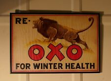 A Charming Advertising Sign, Re Lion Oxo for Winter Health