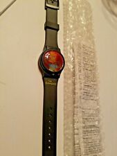 Bart Simpson Watch Simpsons 1997 hologram flicker Subway challenge Ltd edition
