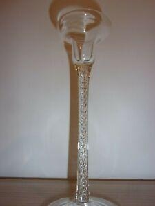 glass candle stick, barley twist stem