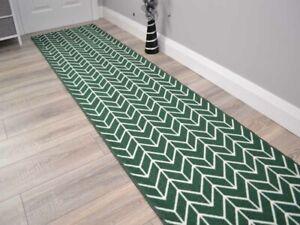 New Emerald Green Extra Long Hall Hallway Corridor Very Narrow Floor Carpet Rugs
