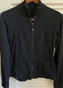 Lululemon Women's Full Zip Jacket Black Sz 10 Define