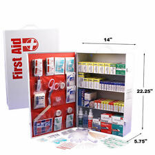 First Aid Cabinet 4 shelf Emergency Survival Kit 1322 pieces Wall Mountable NEW