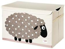 3 Sprouts Toy Storage Chest - Sheep Design Home Storage Box | UK Seller