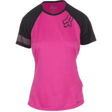 Fox Racing Ripley SS Women's Jersey, Pink/Blue, Large