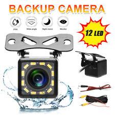 170° HD Universal Car RearView Backup Camera 12Led Waterproof Night Vision