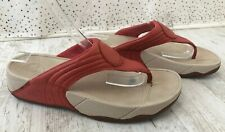 Fit Flop Coral Orange Toe Post Micro Wobbleboard Sandals Shoes UK 6