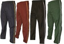 Mens Silky Tracksuit Bottoms Casual Sports Joggers Gym Jogging Track Pants Work