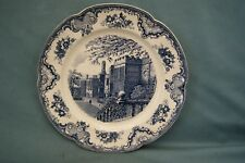 Plat old Britain castles.  Johnson Bros England. D:31,5 cm. Vintage