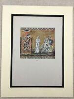1929 Antique Print Italian Byzantine Mosaics Destruction of Sodom and Gomorrah