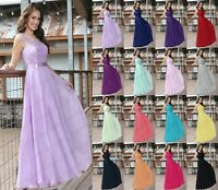 Lace Long Chiffon Evening Formal Wedding Bridesmaid Dresse Prom Party Ball Gown