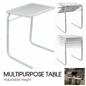 Portable Mate TV Dinner Laptop Tray Adjustable Folding Table Desk For Sofa Bed