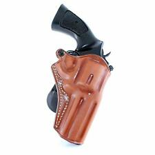 """Leather OWB Paddle Holster Open Top Fits, S&W Model 686 4"""" BBL 357 Magnum #1095#"""