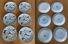"Homemaker by Ridgeway Pottery 6 x 7"" 17.5cm tea / cake plates"