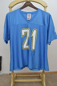 Vintage SAN DIEGO CHARGERS Lt Blue Tomlinson #21 NFL Football JERSEY Women's XL