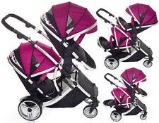 Poussettes et systèmes combinés de promenade noir avec capuche, auvent pour bébé