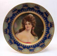 """1907 MARIANNE Meek Dreden Vienna Art Plates 10"""" tin litho tray"""