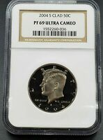 2004 S Proof Kennedy CLAD Half Dollar Coin NGC PF69 UCAM Ultra Cameo