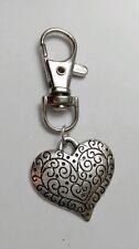 Plata Tibetana Corazón De Amor Llavero,Clave Cadena Bolso de mano,