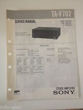 Schema SONY - Service Manual Stereo Amplifier TA-V702 TAV702