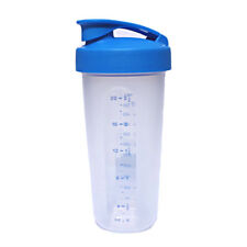 Tupperware New Style Quick Shake 500ml Mix Wip Blend Measure Blue Clear