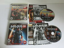 MASS EFFECT 2 & 3 SONY PS3 PLAYSTATION 3 100% COMPLETE 2 GAMES