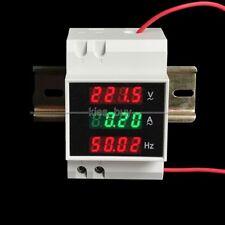 AC 220V-380v 100A 45-65Hz Din-rail digital AC voltmeter ammeter frequency meter