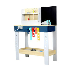 Wooden Tool Bench Playset everything for interactive pretend play sessions F1