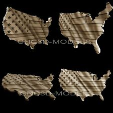 "3D STL Models for CNC Artcam Aspire""USA Flag""United States of America Flag.AF1"