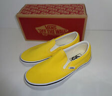 VANS Ladies Classic Slip On Yellow Trainers Shoes RRP £55.00 New UK Size 3