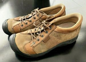 KEEN Austin Pedal Mens Leather Mountain Cycling Bike Shoes Size 10.5 Brown