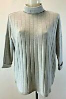Ladies New Ex Phase Eight  Grey Roll Neck Jumper  Size  8 10 12 14 16 18 RRP £55