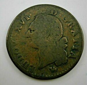 France Louis XVI 1791 Sol Coin