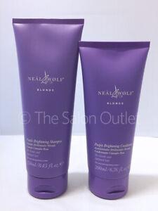 Neal & and Wolf Blonde Purple Brightening Shampoo 250ml & Conditioner 200ml Duo