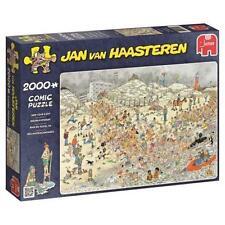 JUMBO JIGSAW PUZZLE NEW YEAR'S DIP JAN VAN HAASTEREN 2000 PCS CARTOON #19040
