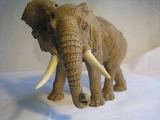 REALISTIC FINELY MODELED AFRICAN ELEPHANT FIGURINE ANIMAL FIGURES