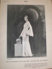 Photo article Lord Beaverbook daughter Janet Gladys Aitken 1932 ref Y2