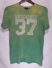 Unique Abercrombie & Fitch Men's T-Shirt / Size Small / Lemon Lime Green