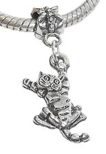 Cat Animal Kitty Kitten Pet Dangle Charm for Silver European Style Bead Bracelet