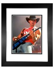 Kenny Chesney   001  8X10 PHOTO FRAMED TO11X14