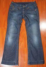TRUE RELIGION Women's Boot Cut Flare Dark Wash Denim Jeans Size 26 RN#11270