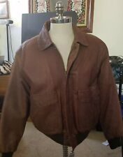 Vintage Anchor Blue Men's Jacket Brown Extra Large XL Genuine Leather