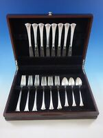 Newport Scroll by Gorham Sterling Silver Flatware Set 8 Place Service 32 Pcs
