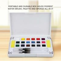 New Portable Solid Water Color Paint Watercolor Pigment Set School Drawing SR