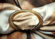 Schalring Tuchring scarf ring scarfring Echt Büffelhorn  beige Horn NEU