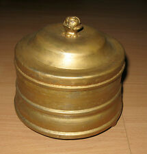 Old Vintage Round Gold Music Box Plays Lively Tune Althenia New York