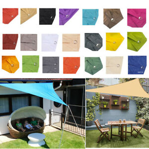 triangle Sun Shade Sail Waterproof Canopy Block UV Sunscreen Patio Awning Cover