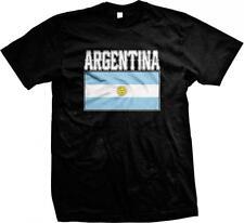 Argentina Text Flag Argentine Pride Orgullo Bandera de Argentina Mens T-shirt