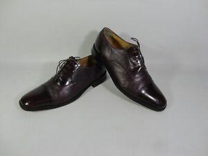 Loake Leather Oxford Bibury Shoes Oxblood Brown Burgundy Red UK 10 2296 Men's