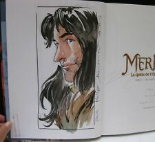 Demare DEDICACE Merlin 5  Ed. Soleil EO 2012 TTBE