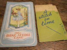 Vtg Promo Lot Of 2 Needle Packets~Loudonville Farmers Equity&Personal Finance,Pa